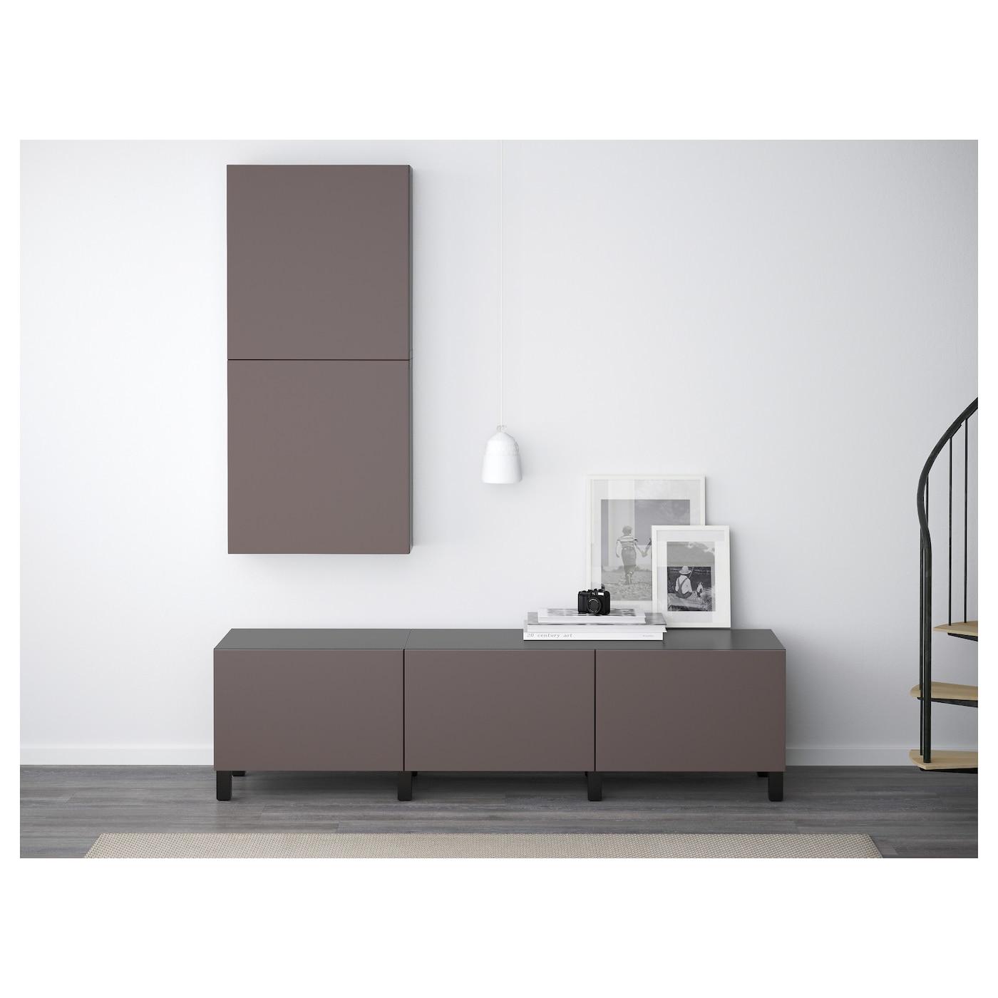 best wall cabinet with 2 doors black brown valviken dark brown 60x20x128 cm ikea. Black Bedroom Furniture Sets. Home Design Ideas