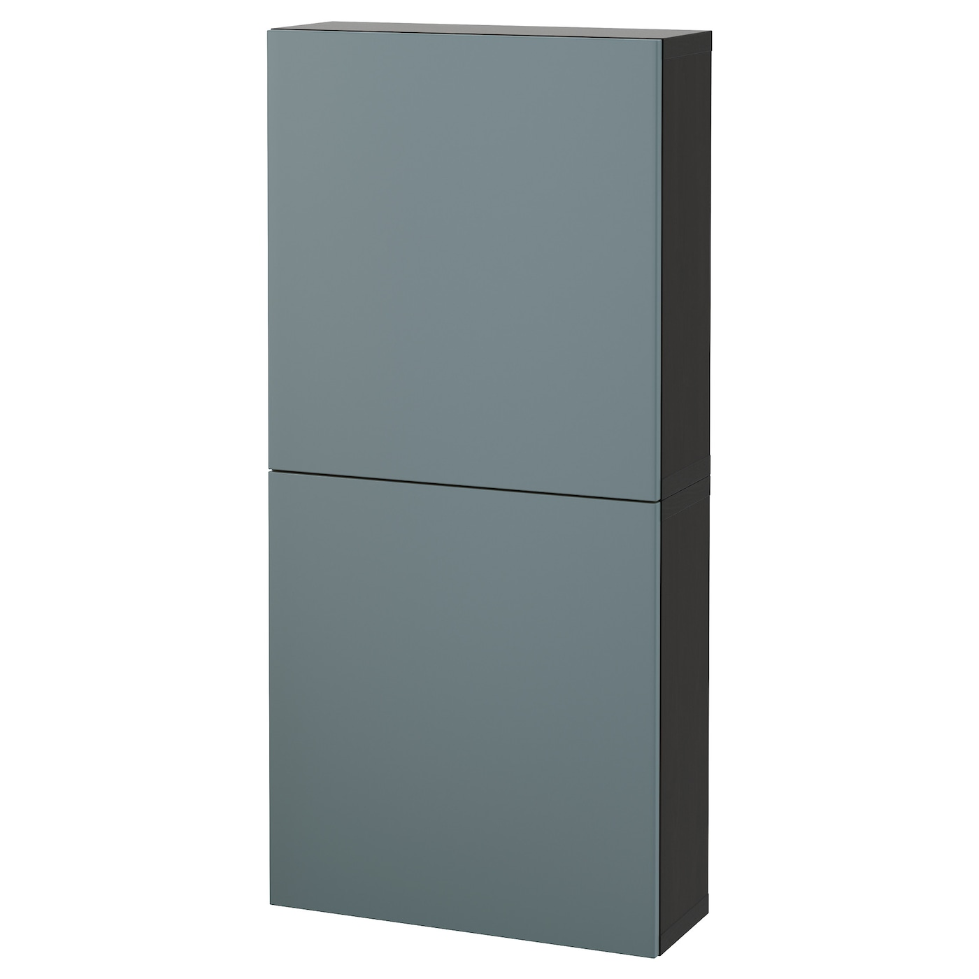 Best wall cabinet with 2 doors black brown valviken grey for Black cabinet with doors