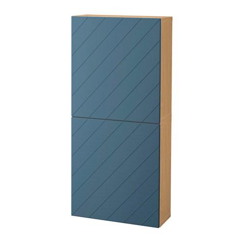 Best wall cabinet with 2 doors oak effect hallstavik dark for Oak effect kitchen wall units