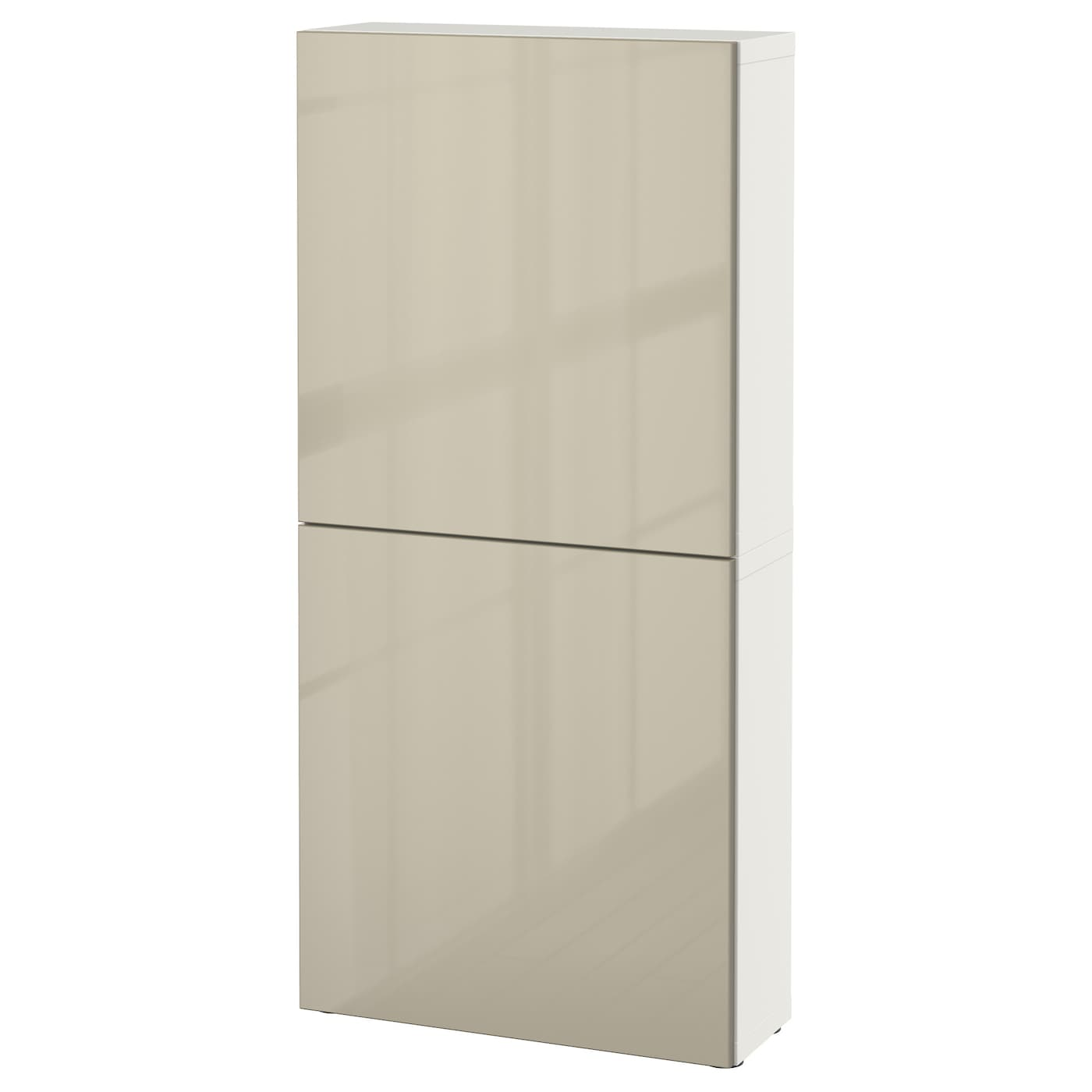 best wall cabinet with 2 doors white selsviken high gloss. Black Bedroom Furniture Sets. Home Design Ideas