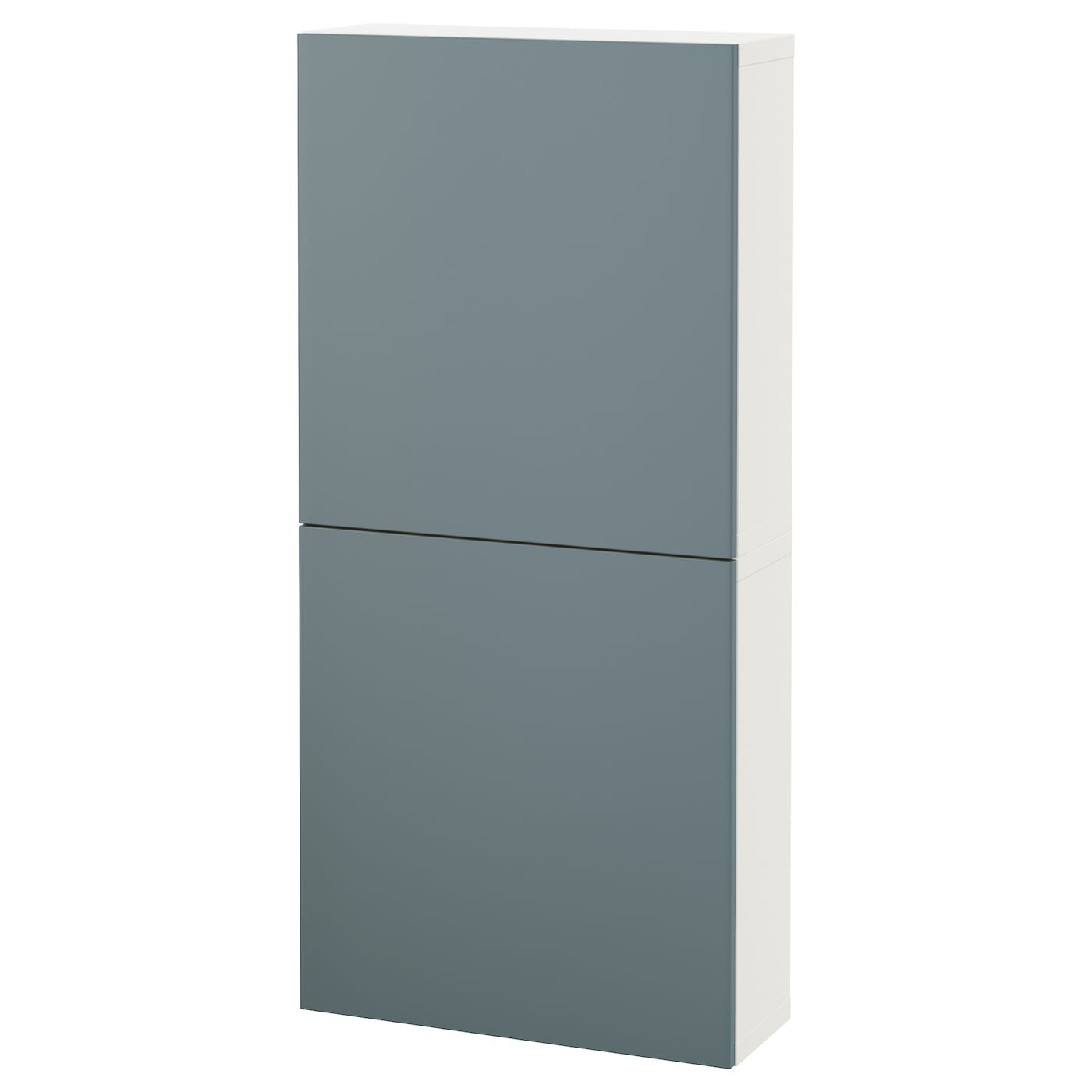 Best wall cabinet with 2 doors white valviken grey for Meuble mural ikea