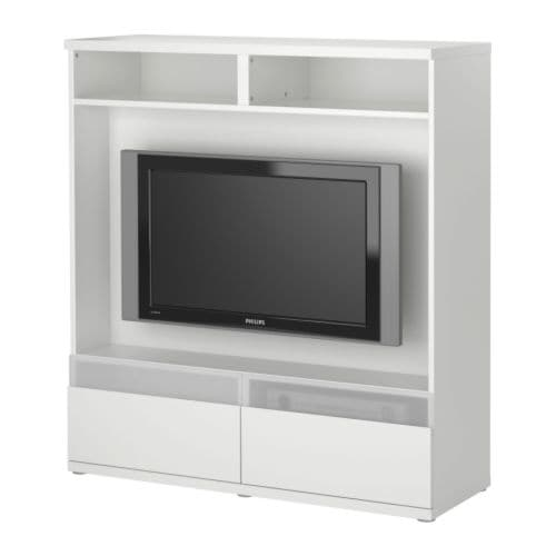 BESTÅ BOÅS TV storage unit IKEA Drawers made partly of tempered glass; the remote control works through the glass.