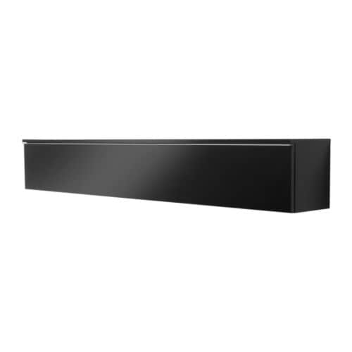 Best burs wall shelf high gloss black ikea for Ikea meuble mural besta