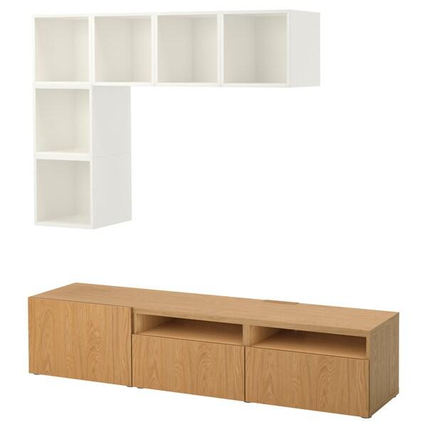 Cabinet Combination For Tv Bestå Eket White Oak Effect