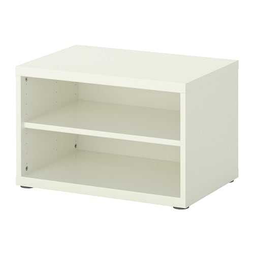 BESTÅ Shelf unit/height extension unit IKEA 1 adjustable shelf; adjust spacing according to your own needs.