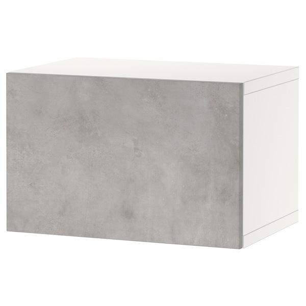 BESTÅ Shelf unit with door, white/Kallviken light grey, 60x42x38 cm