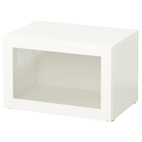 BESTÅ Shelf unit with glass door, white/Sindvik white clear glass, 60x42x38 cm
