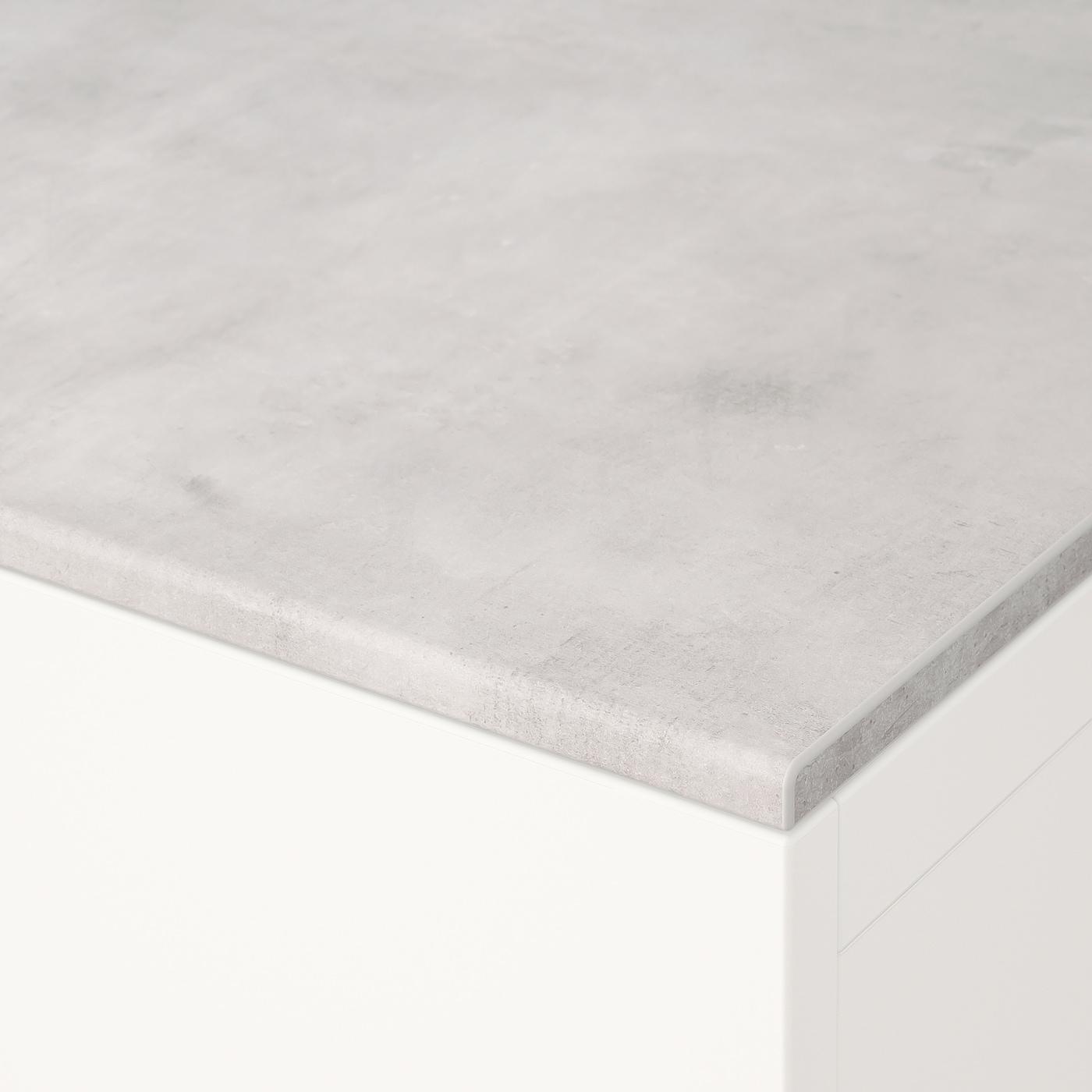 BESTÅ concrete effect, light grey, Top