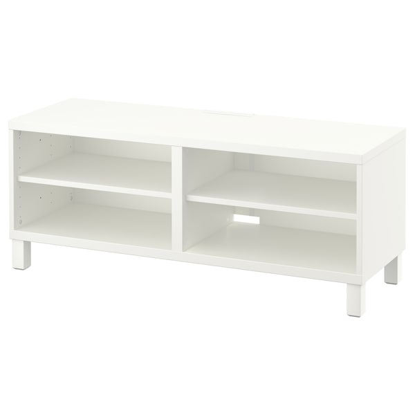 BESTÅ TV bench, white, 120x40x48 cm