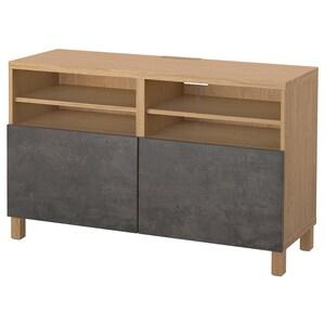 Colour: Oak effect kallviken/stubbarp/dark grey concrete effect.