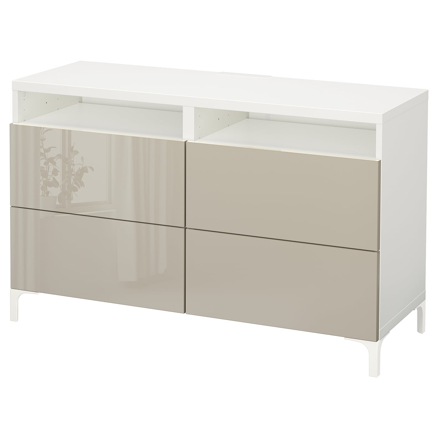 Living Room Cabinets High Gloss Soft Closing TV Stand Bedside Chest of Drawers