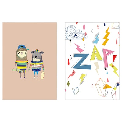 BILD art card Friends 21 cm 30 cm 2 pack