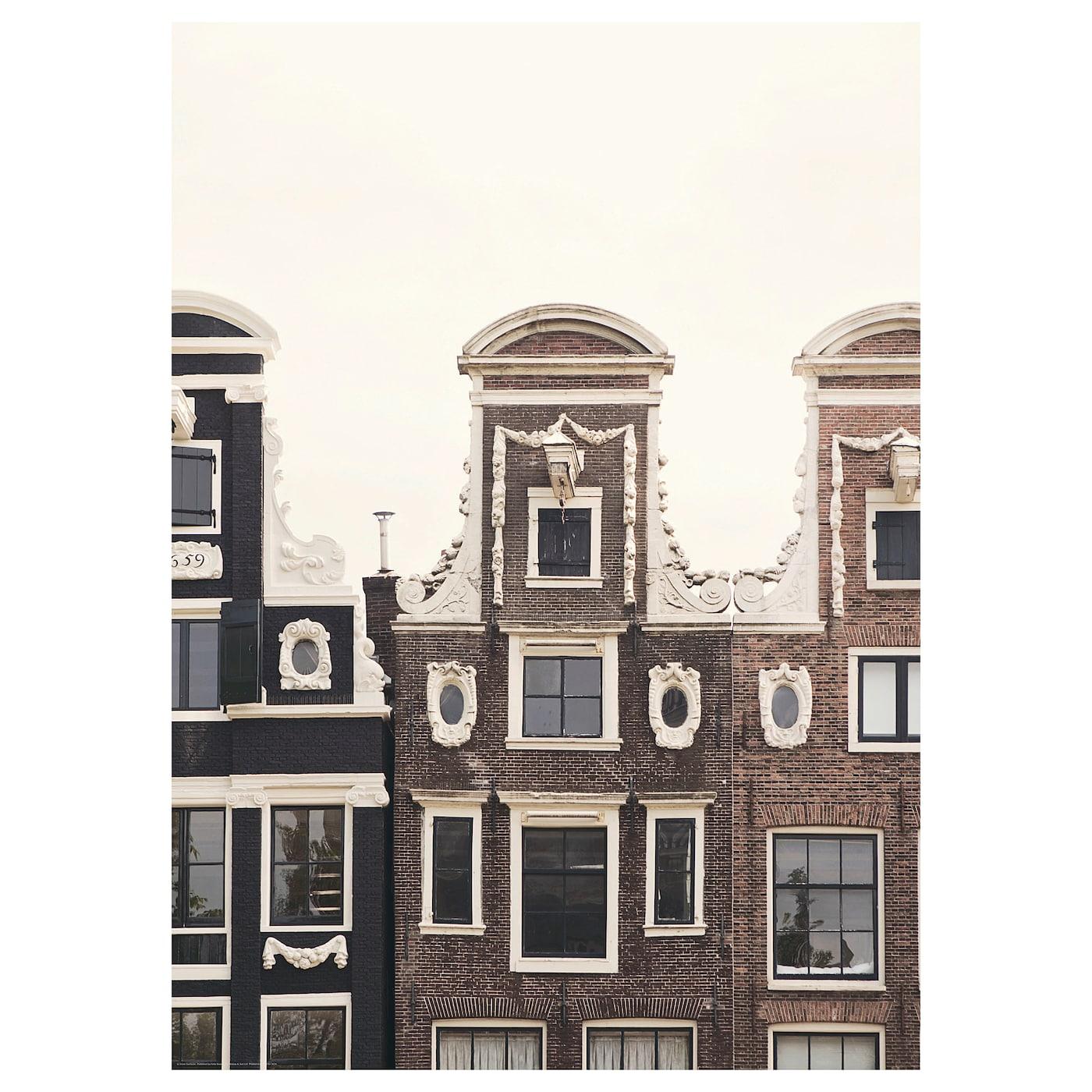 bild poster aerial amsterdam ii 50 x 70 cm ikea. Black Bedroom Furniture Sets. Home Design Ideas