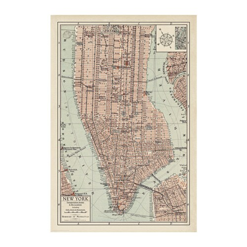 Bild poster manhattan map ii 61 x 91 cm ikea ikea bild poster you can personalise your home with artwork that expresses your style gumiabroncs Gallery