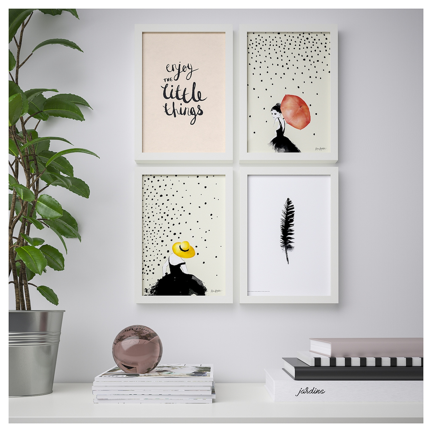 Bild poster set of 4 simple joy 21 x 30 cm ikea for Poster ikea