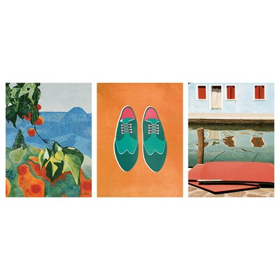 BILD poster Colourful holiday 30 cm 40 cm 3 pack