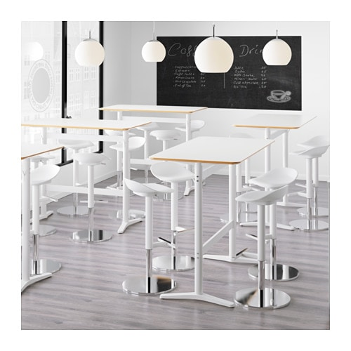Billsta bar table white white 130x70 cm ikea for High table and chairs ikea