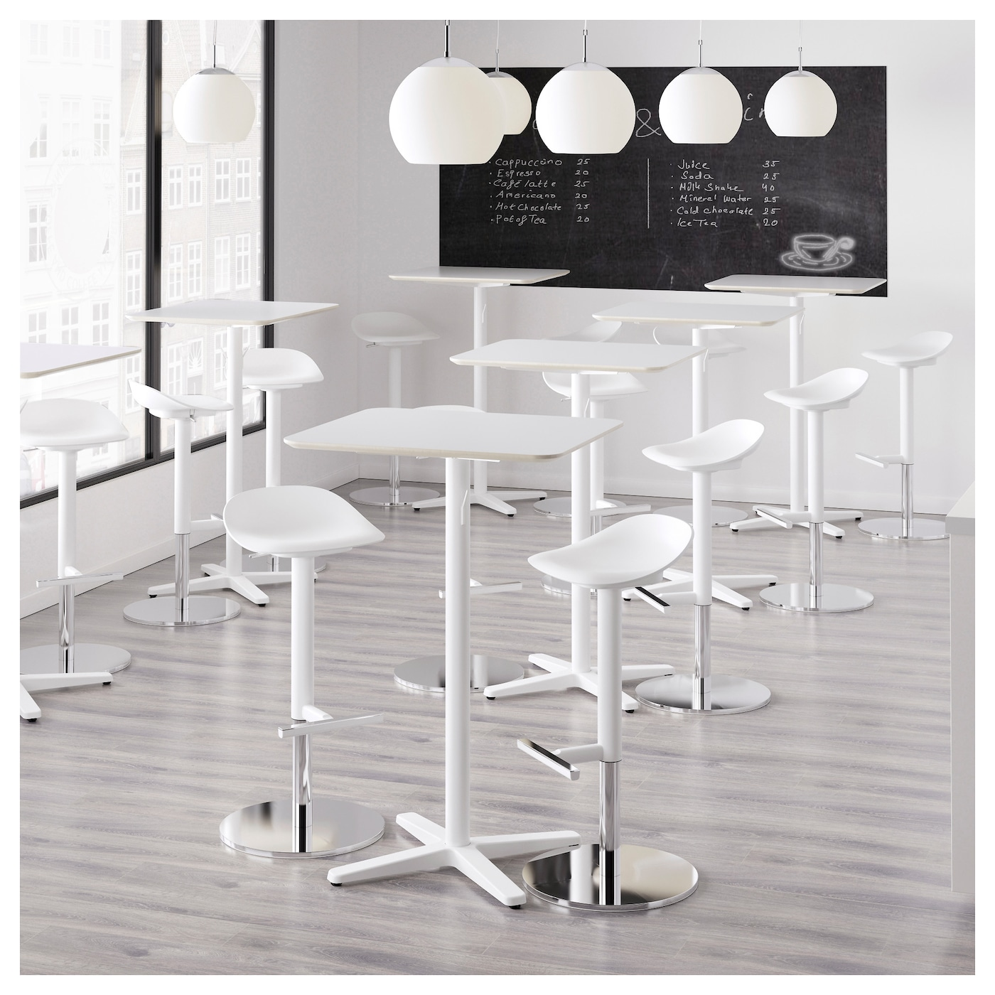 IKEA BILLSTA bar table Durable and hard-wearing; meets the requirements on furniture for public use.