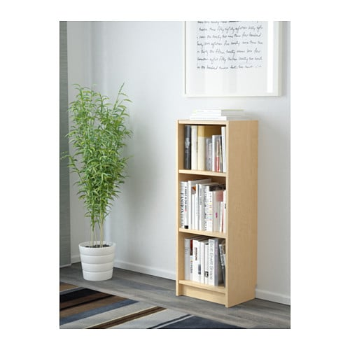 IKEA BILLY bookcase Adjustable shelves; adapt space between shelves  according to your needs. - BILLY Bookcase Birch Veneer 40x28x106 Cm - IKEA
