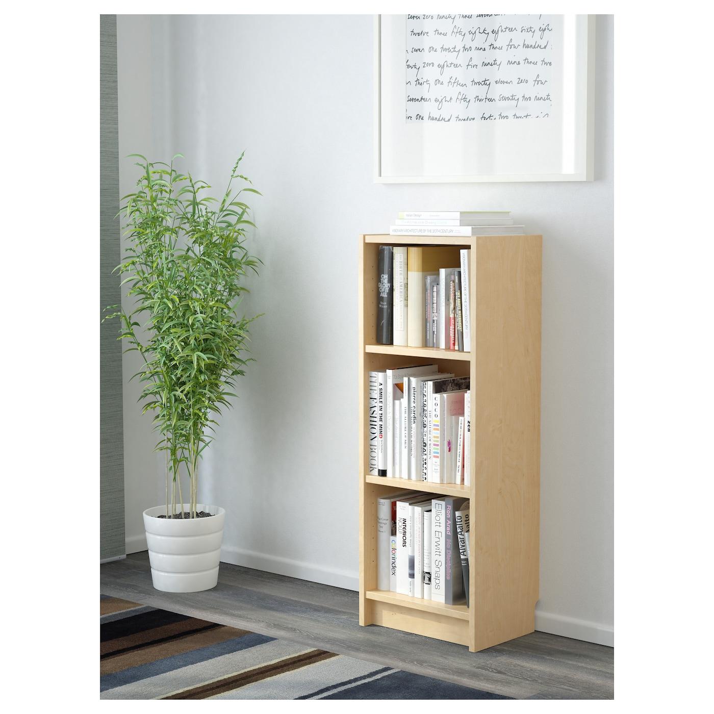 Bookcase Table Billy Bookcase Birch Veneer 40x28x106 Cm Ikea