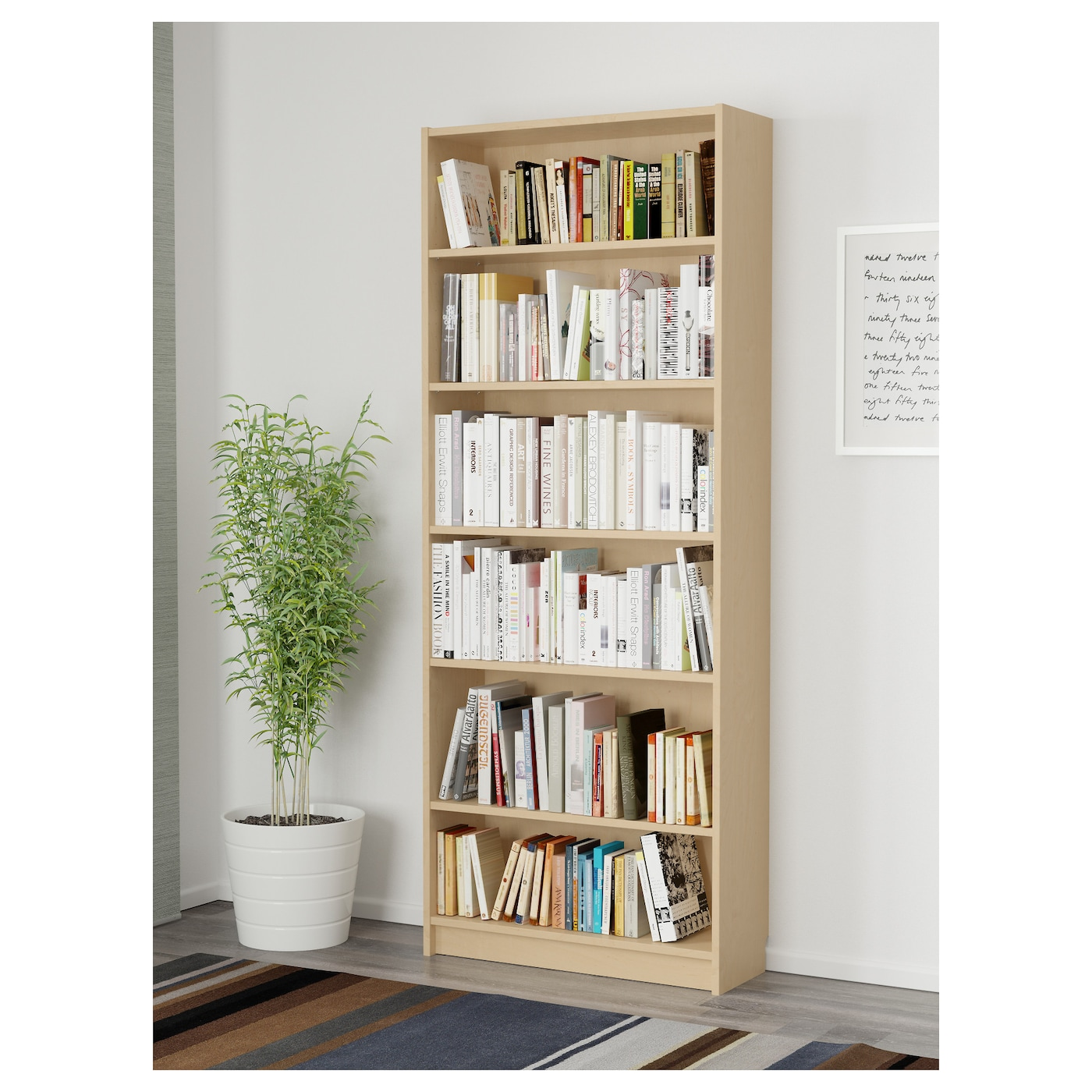 billy bookcase birch veneer 80x28x202 cm ikea. Black Bedroom Furniture Sets. Home Design Ideas