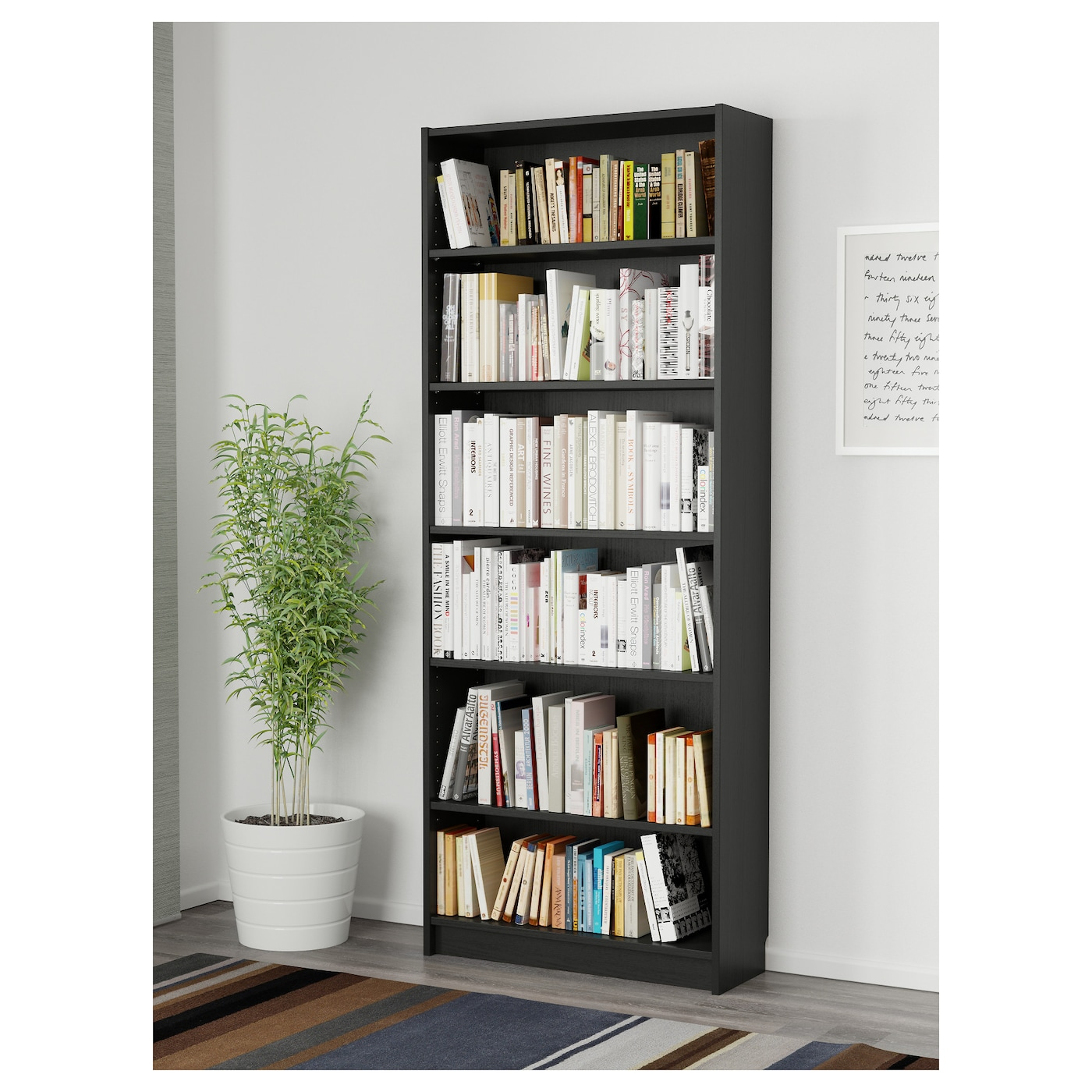 billy bookcase black brown 80 x 28 x 202 cm ikea. Black Bedroom Furniture Sets. Home Design Ideas