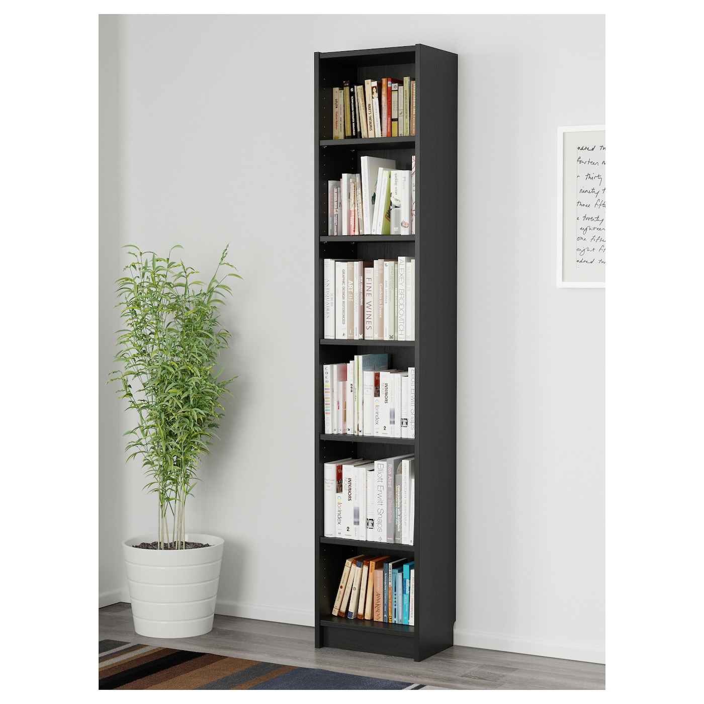 billy bookcase black brown 40 x 28 x 202 cm ikea. Black Bedroom Furniture Sets. Home Design Ideas