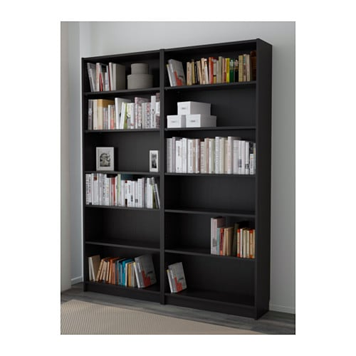BILLY Bookcase Black-brown 160x202x28 cm - IKEA