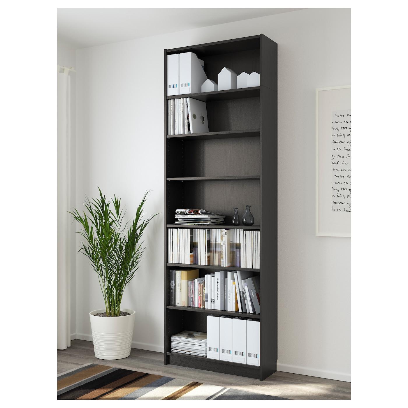 billy bookcase black brown 80x237x28 cm ikea. Black Bedroom Furniture Sets. Home Design Ideas
