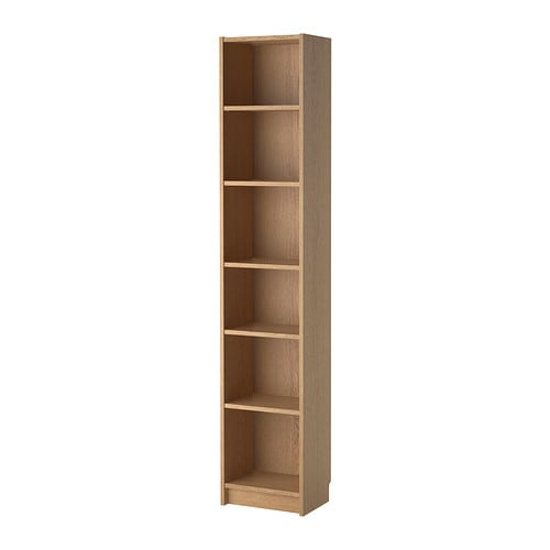 Billy bookcase oak veneer 40x28x202 cm ikea - Bibliotheque 6 cases ...