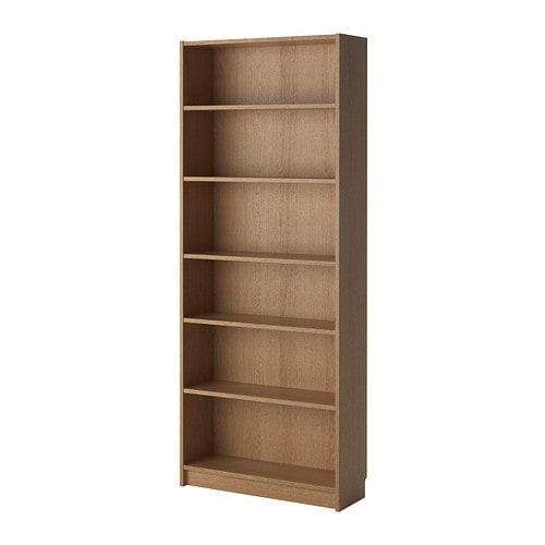 billy bookcase oak veneer 80x28x202 cm - ikea,