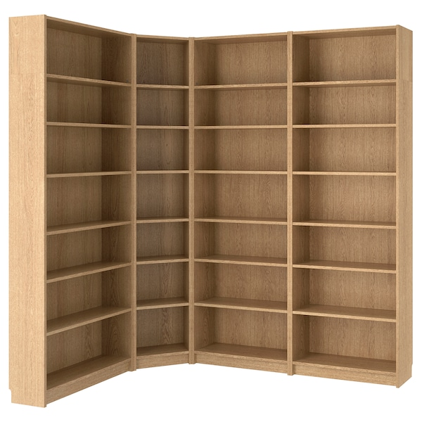 Billy Oak Veneer Oak Bookcase 215 135x28x237 Cm Ikea