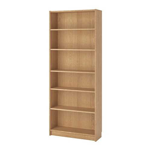 billy bookcase oak veneer 80 x 28 x 202 cm ikea. Black Bedroom Furniture Sets. Home Design Ideas