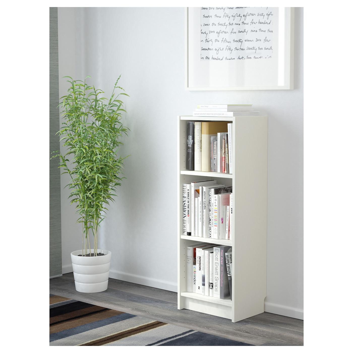 Image of: Billy White Bookcase 40x28x106 Cm Ikea