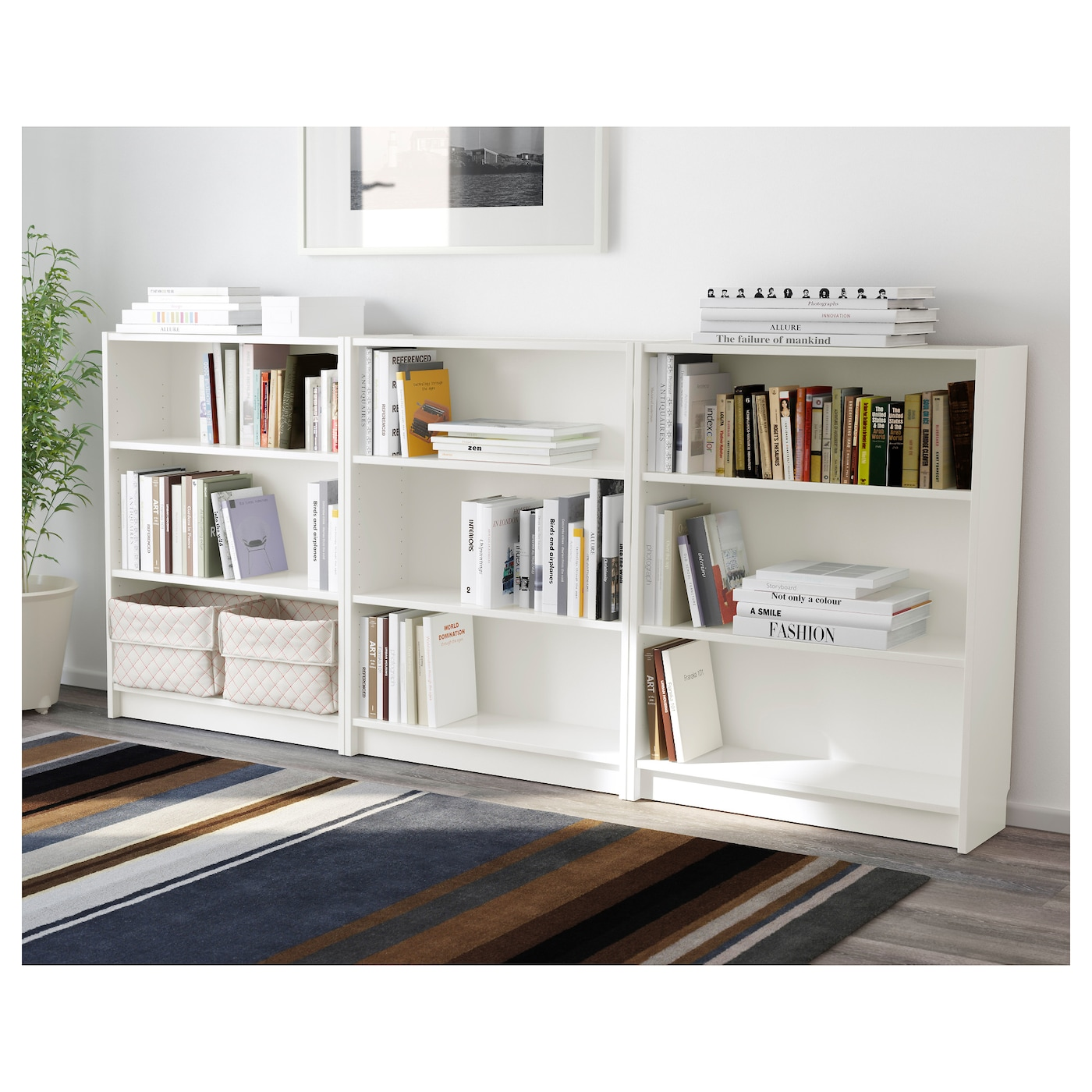 billy bookcase white 240 x 106 x 28 cm ikea. Black Bedroom Furniture Sets. Home Design Ideas