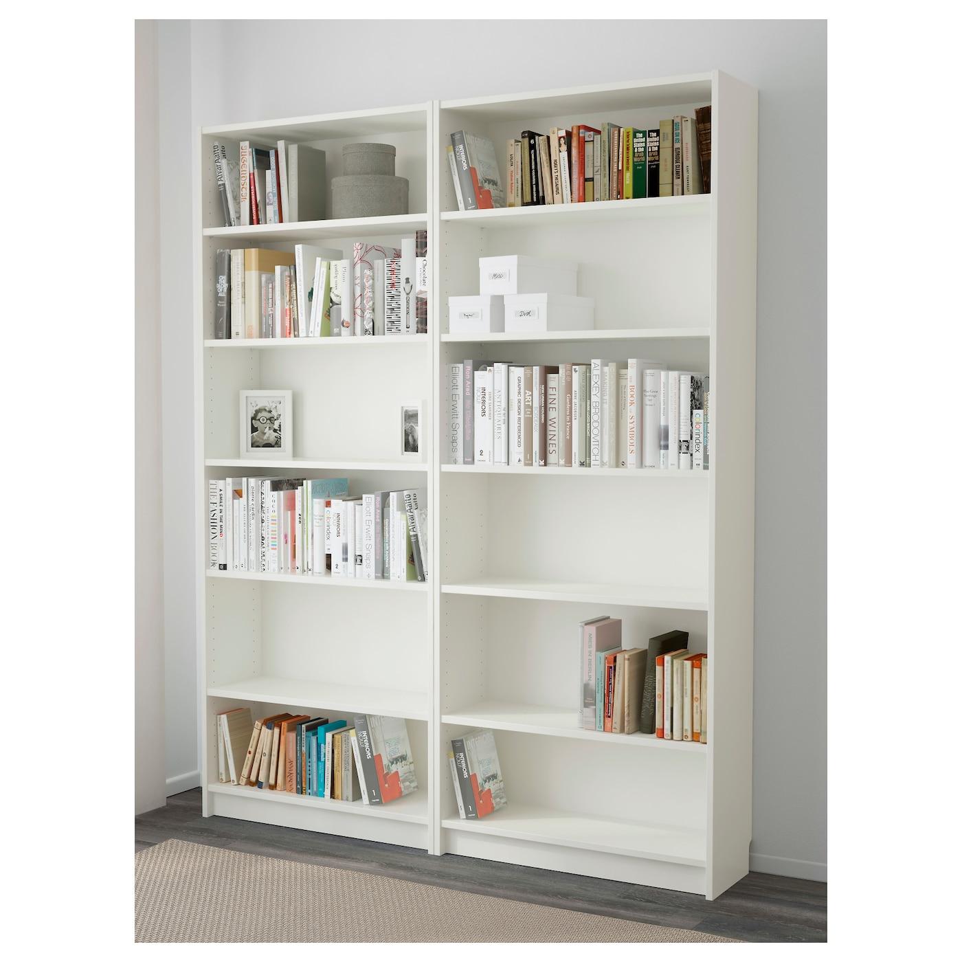 Billy Bookcase White 160x202x28 Cm Ikea