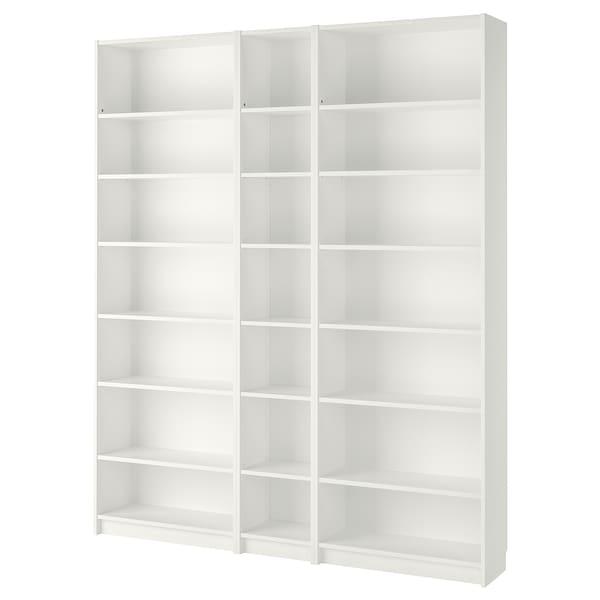 BILLY Bookcase, white, 200x28x237 cm