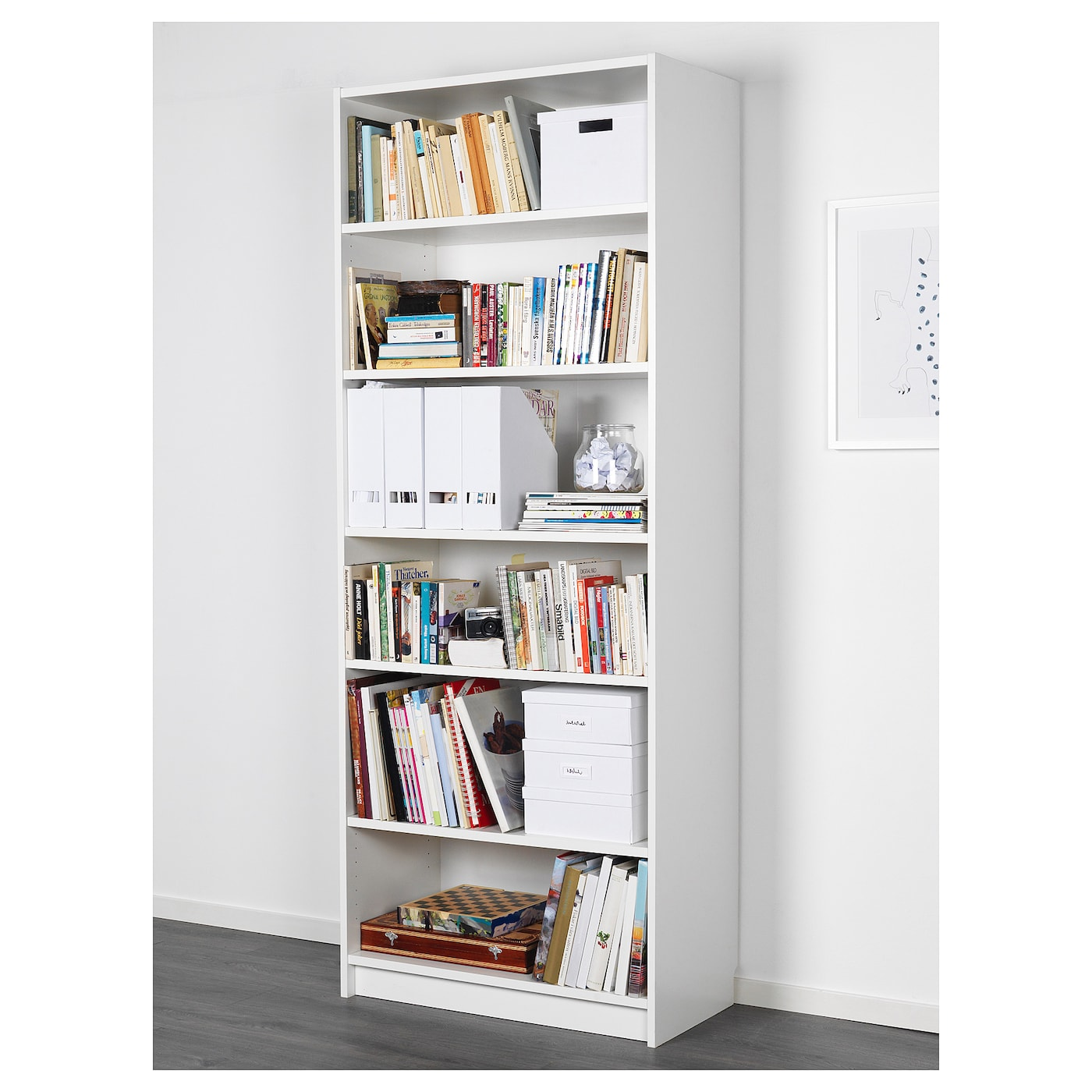 Billy White Bookcase Width 80 Cm Height 202 Cm Ikea