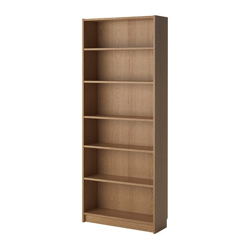 Billy bookcase oak veneer ikea for Read your bookcase buy