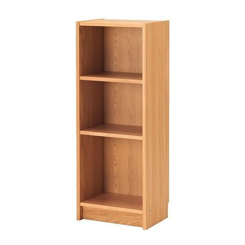 Ikea billy bookcase white oak birch veneer w40 d28 h106 cm next wrkday delivery - Bookshelves small spaces photos ...