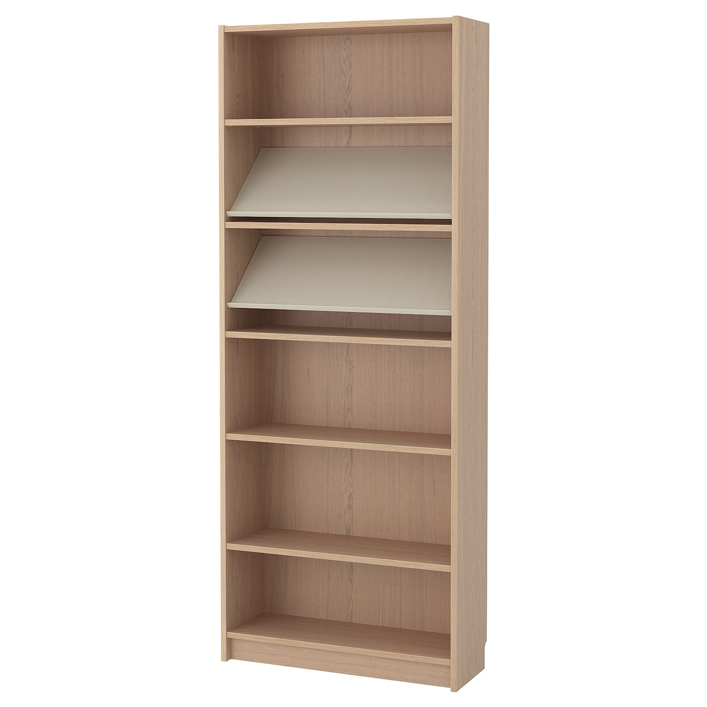 BILLY/BOTTNA Bookcase With Display Shelf White Stained Oak