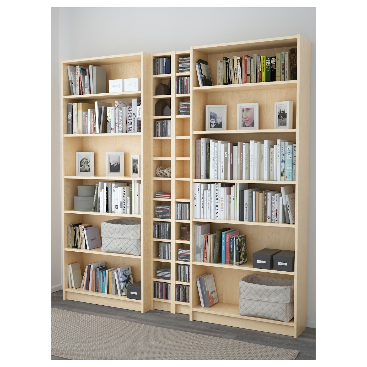 billy gnedby bookcase birch veneer 200x202x28 cm ikea. Black Bedroom Furniture Sets. Home Design Ideas