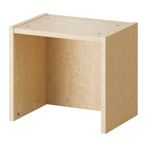 billy height extension unit birch veneer ikea. Black Bedroom Furniture Sets. Home Design Ideas