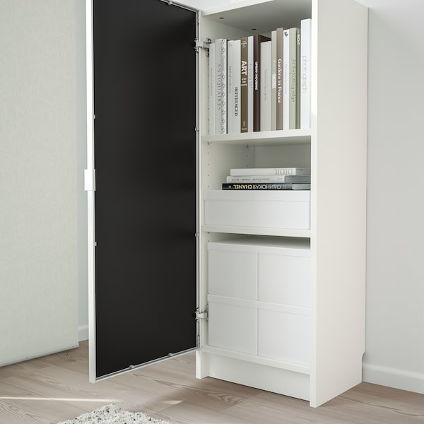 BILLY / MORLIDEN White, Glass, Bookcase With Glass Door