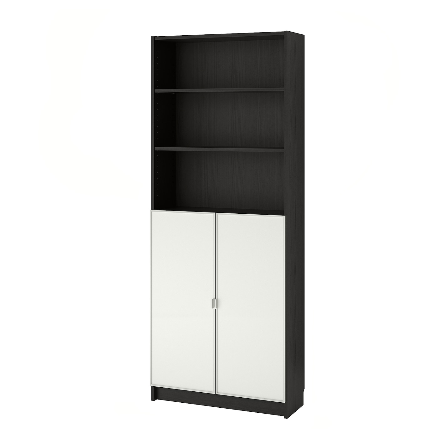 billy morliden bookcase with glass doors black brown glass 80 x 30 x 202 cm ikea. Black Bedroom Furniture Sets. Home Design Ideas