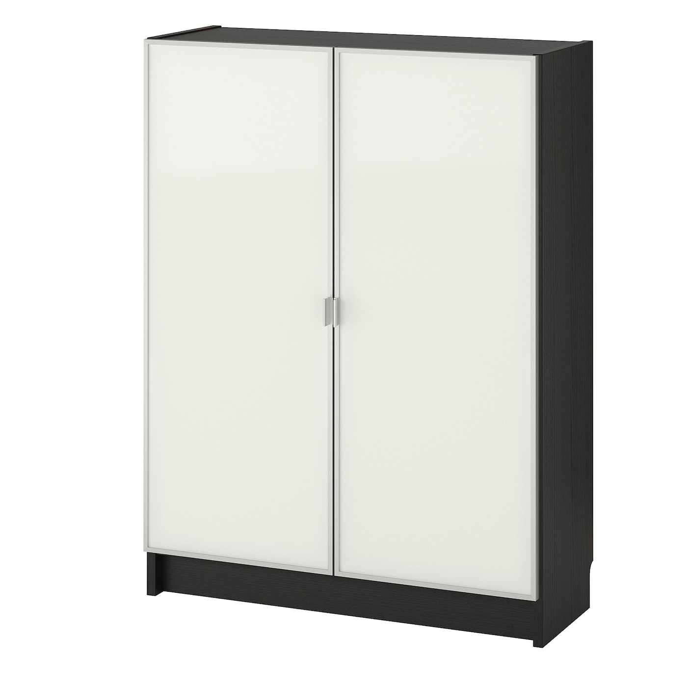 billy morliden bookcase with glass doors black brown glass. Black Bedroom Furniture Sets. Home Design Ideas