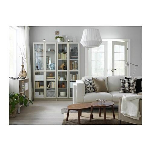 Billy oxberg bookcase beige 160x202x30 cm ikea for Ikea blue billy bookcase