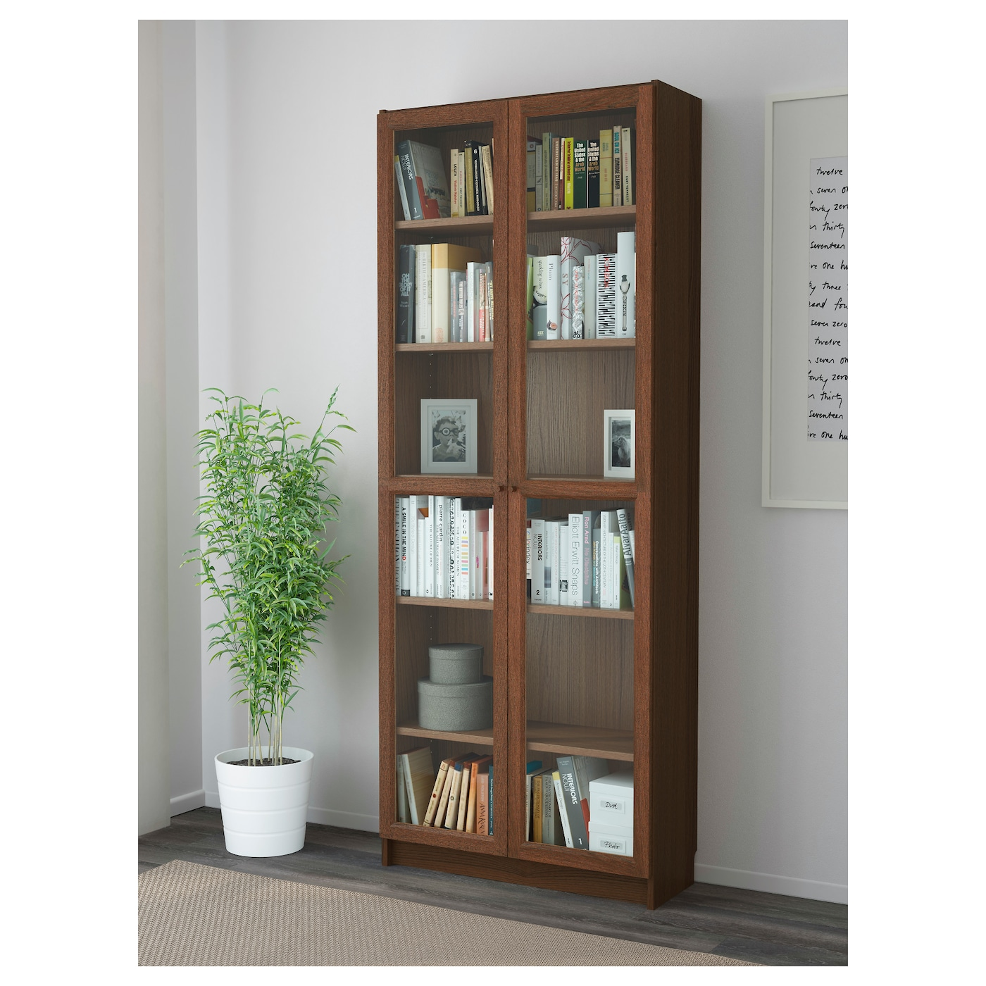 IKEA BILLY/OXBERG bookcase Adjustable shelves; adapt space between shelves according to your needs.