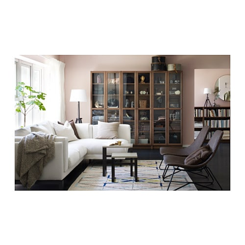 billy oxberg bookcase brown ash veneer 80x202x30 cm ikea. Black Bedroom Furniture Sets. Home Design Ideas