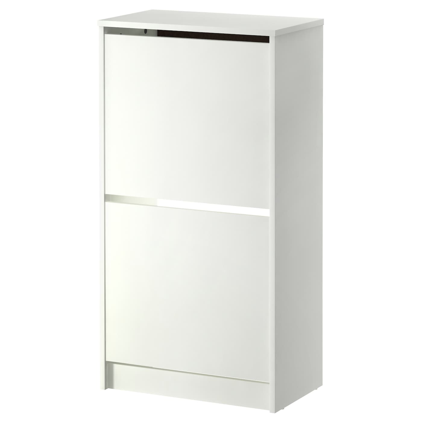 bissa shoe cabinet with 2 compartments white 49x93 cm ikea. Black Bedroom Furniture Sets. Home Design Ideas